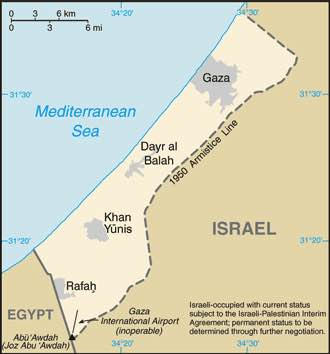 By Taken from CIA World Factbook website on 15 August. - Gaza Strip from CIA factbook, Public Domain, https://commons.wikimedia.org/w/index.php?curid=591
