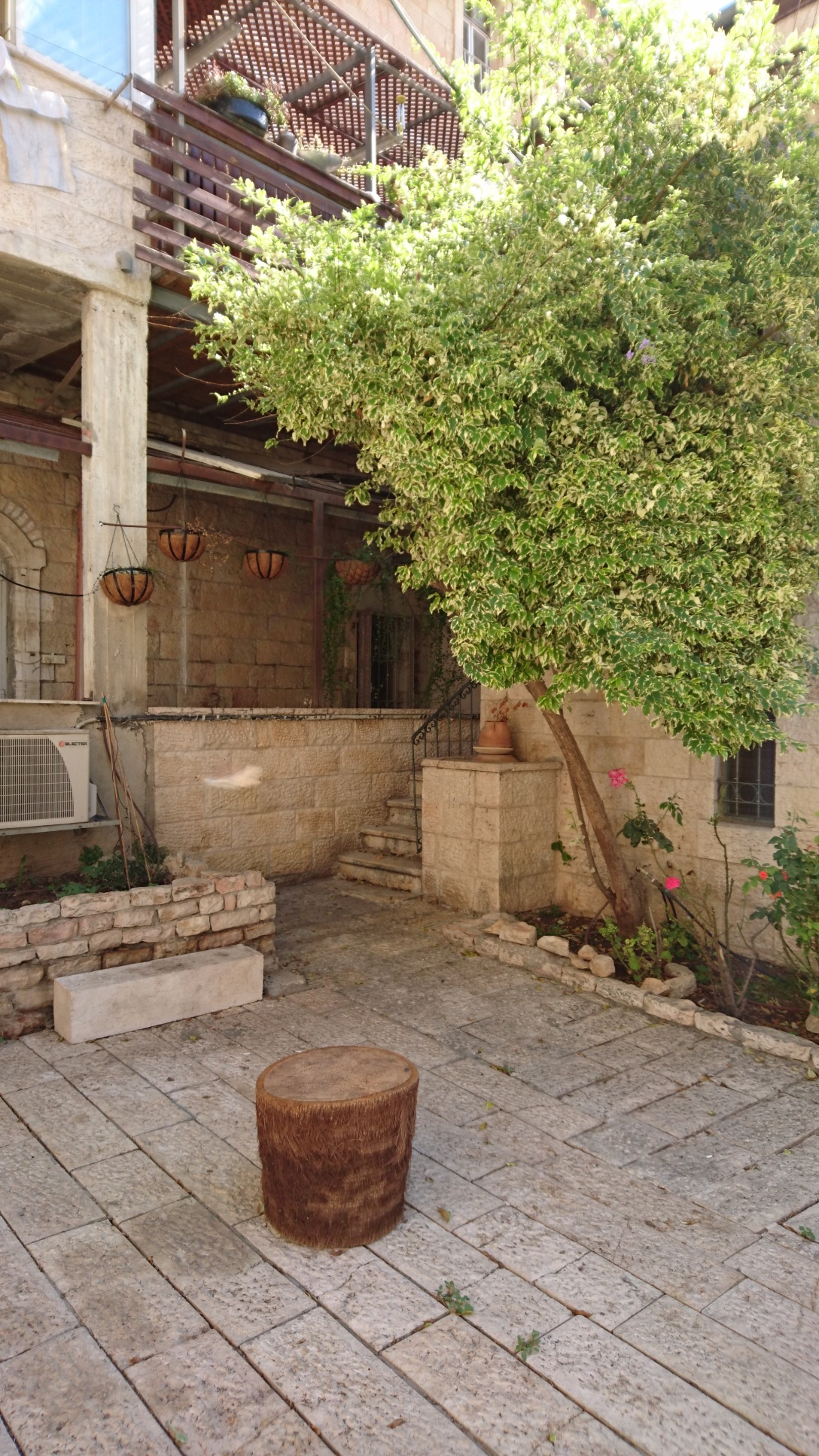courtyard of Polis Institute