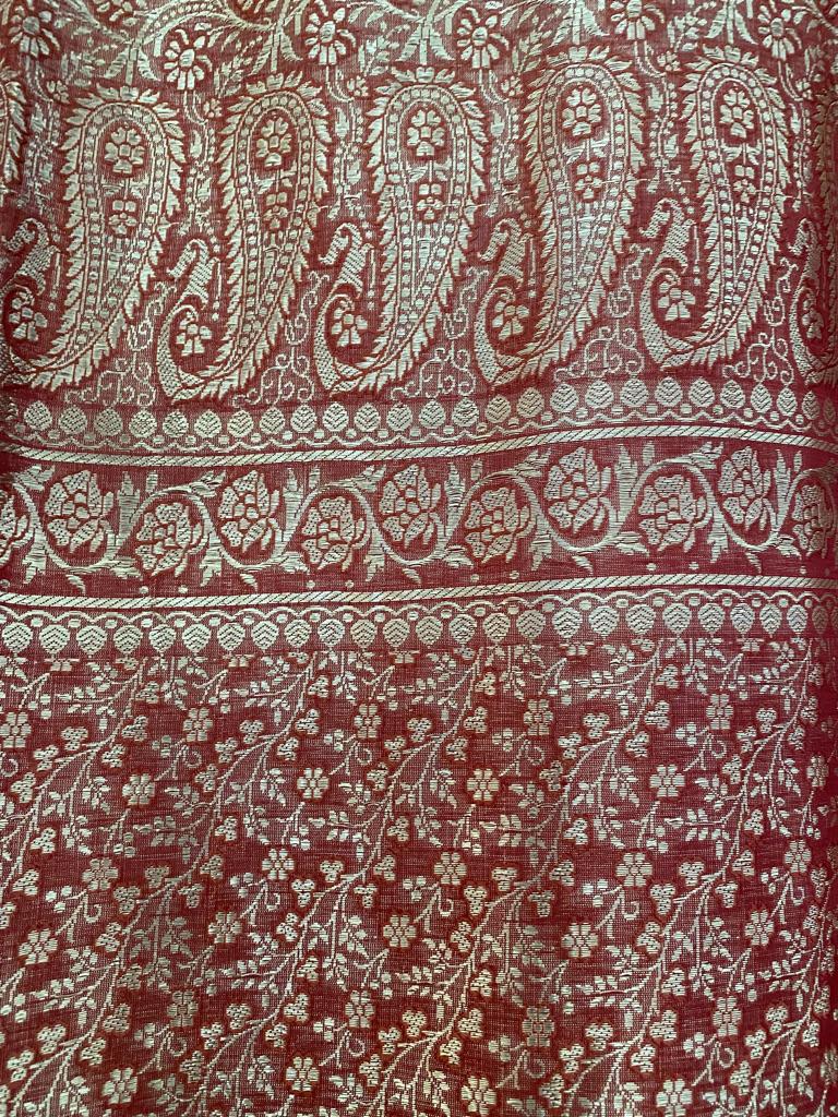 Silk Dupatta with Gold Threads